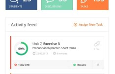 Clean Activity Feed Widget For PSD