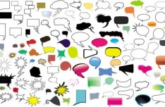 Thought and Speech Bubbles Collection Vector