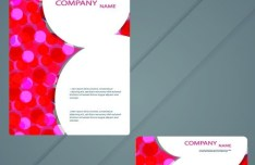 Vector Modern Card Template For Business Card and Brochure 05