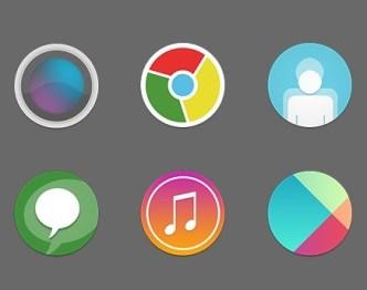 512px Round Web Icons Set PSD