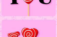 Cartoon I Love You Lollipops