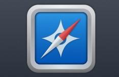 Clean Safari Icon with Metal Border PSD