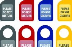 Set Of Vector Do Not Disturb Hang Tags