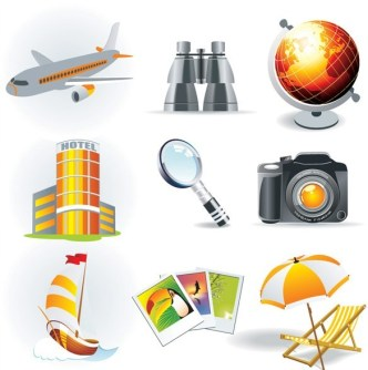 Set of Vector Global Travel Icons 02
