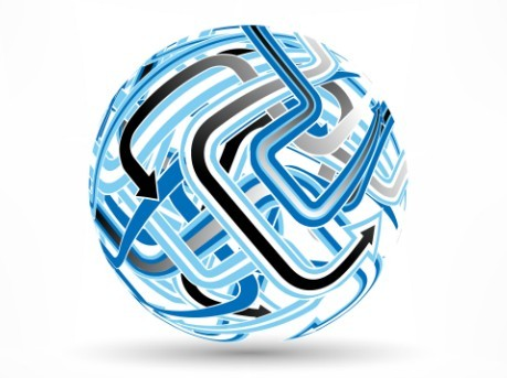 Creative Abstract Globe Logo Vector 03
