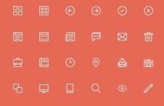 24+ Skinny Web Icons PSD