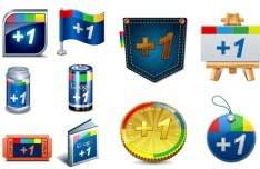 Creative Google Plus Icons Vector