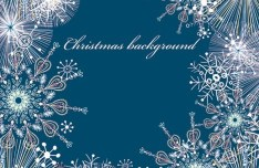 Elegant Snowflakes Background For Christmas Vector 05