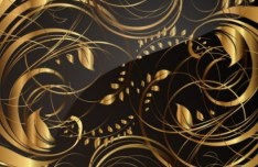 Gorgeous Golden Floral Pattern Vector 04