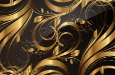 Gorgeous Golden Floral Pattern Vector 05