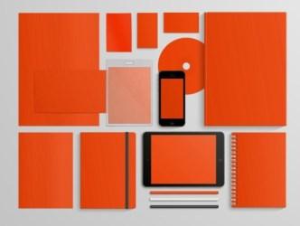Orange Corporate Identity & Branding PSD Mockup