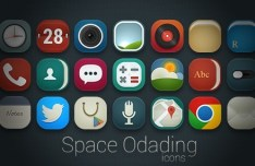 Space Odading Rounded Web Icons Pack (PSD Included)