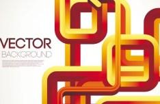 3D Abstract Arrow Background Vector 03