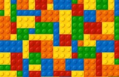 Colored Lego Background Vector