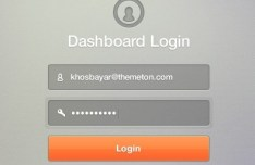 Dashboard Login Form Interface PSD