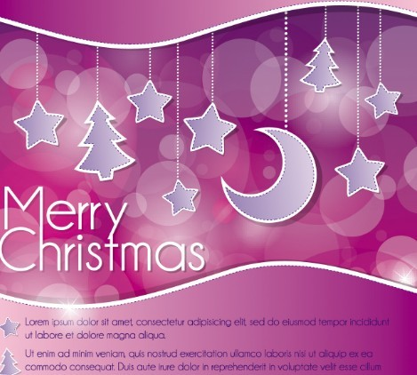 Red Fantastic Merry Christmas Background Decoration Vector