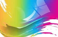 Abstract Splash Painting Background Vector