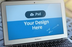 Apple Macbook Air PSD Template