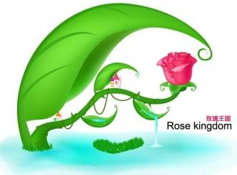 Rose Kingdom Illustration Vector 02