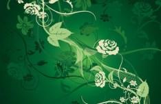 Vintage Styled Vector Flower Pattern Background 02
