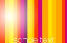 Bright Gradient Color Stripes Background Vector 04