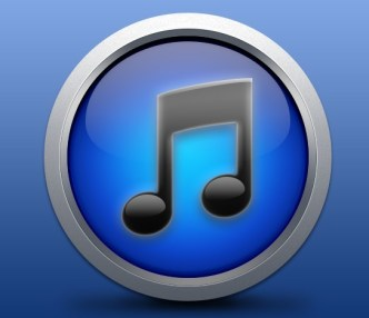 Glossy iTunes Icon With Metal Border PSD