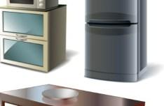 Set Of Vector 3D Furniture 04