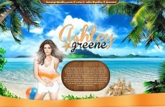 Ashley Greene Summer Website Theme PSD