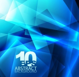 Glowing Blue Abstract Shapes Background 02