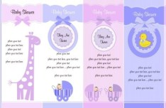 Set Of Cute Cartoon Banners with Animal Backgrounds Vector