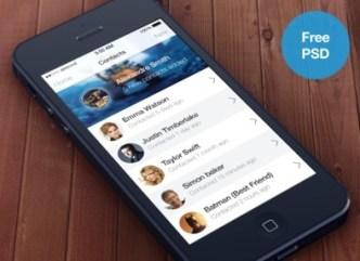 iOS 7 Contacts App PSD