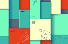 Colorful 3D Boxes Background Vector 01