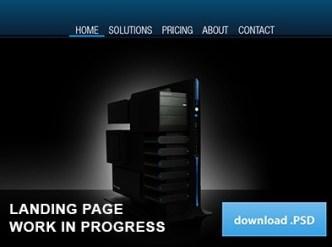 Dark Web Hosting Landing Page PSD Template