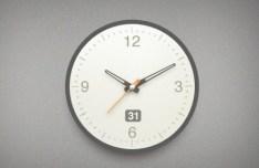 Modern Clock Interface PSD