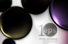 3D Glossy Circles Background Vector