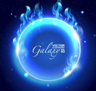 Blue Light Galaxy Vector Background 01