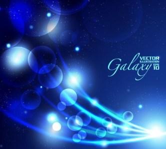 Blue Light Galaxy Vector Background 05