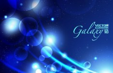 Blue Light Galaxy Vector Background 05
