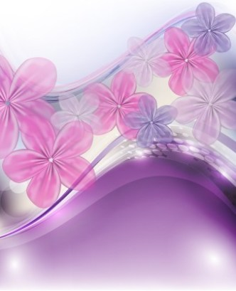 Fresh & Bright Floral and Flower Background Vector 02