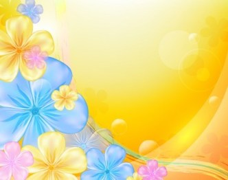 Fresh & Bright Floral and Flower Background Vector 04