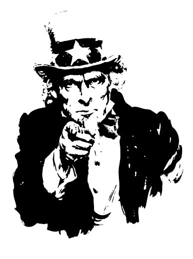 Vector Uncle Sam Want You