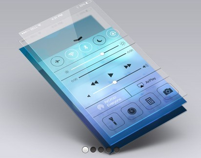 Perspective App Screen PSD Mockup