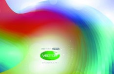 Colorful Bright Abstract Swirls Background Vector 03