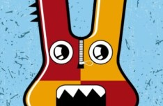 Funny Cartoon Monster Vector 05