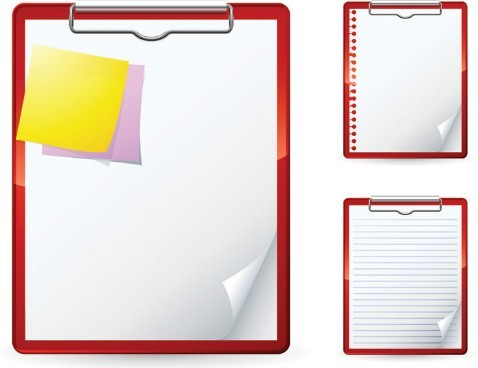 free blank clipboard with clip template vector 02 titanui