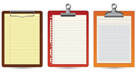 free blank clipboard with clip template vector 04 titanui