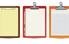 Blank Clipboard with Clip Template Vector 04
