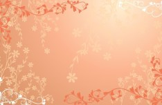 Red Floral Wedding Background Vector