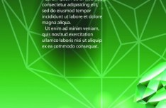 Vector Green Diamond Background 01