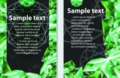 Vector Green Diamond Background 02